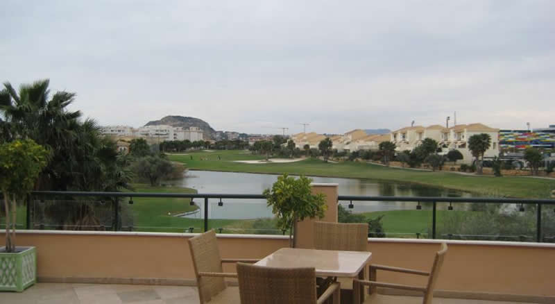 a view of the course from the terrace