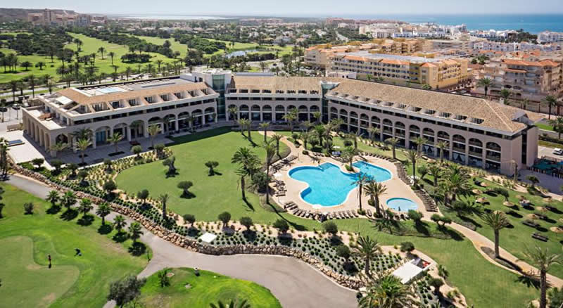 ariel view of the AR Golf Hotel Almerimar in Almeria