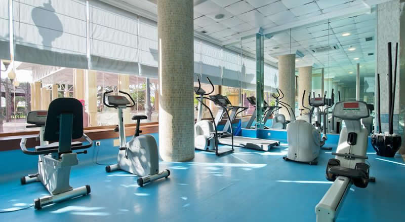 the fitness room at the IPV Beatriz Palace hotel in Fuengirola