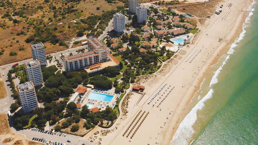 ariel view of the Pestan Dom Joao Villas, Alvor, Algarve