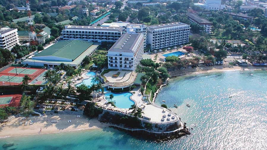 the Dusit Thani Hotel Pattaya