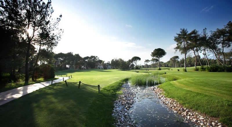 the 14th hole of the montgomerie golf course