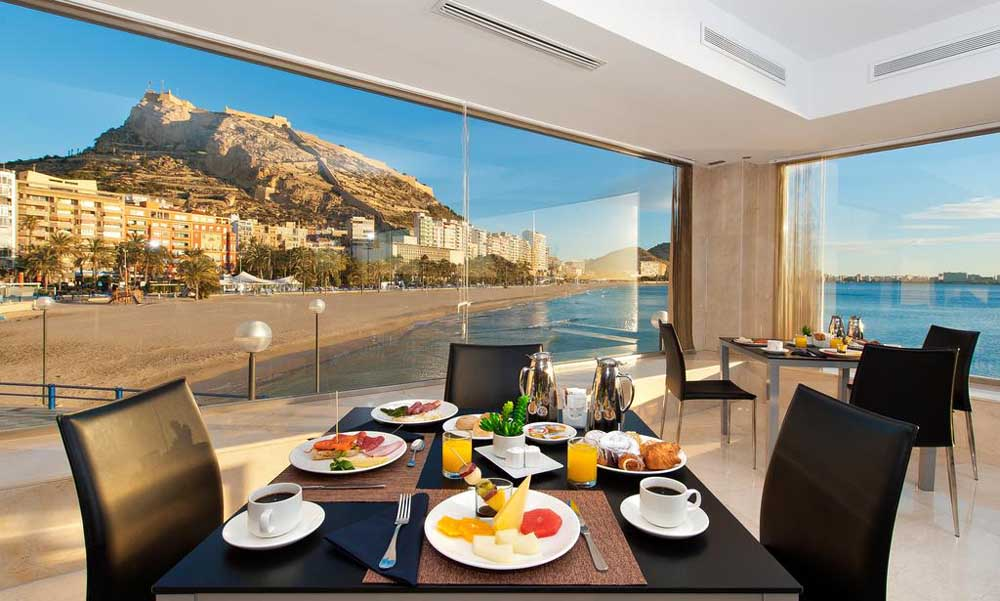 the Melia Alicante restaurant