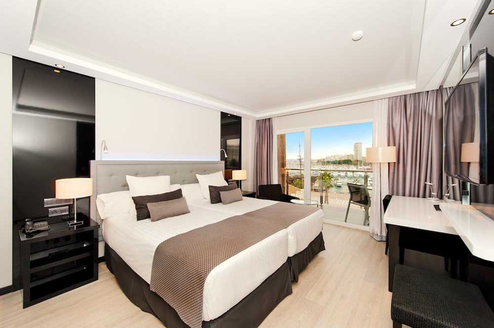 a junior suite at the Melia Alicante Hotel