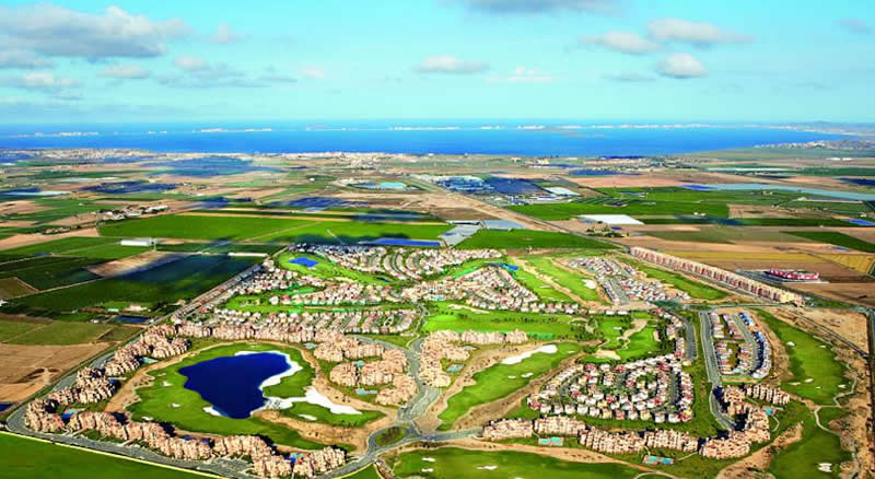 am ariel view of the mar menor course