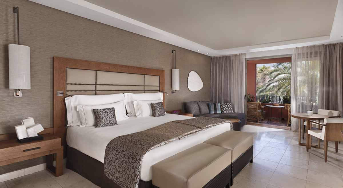 a double bedroom at the Ritz Carlton Abama Resort