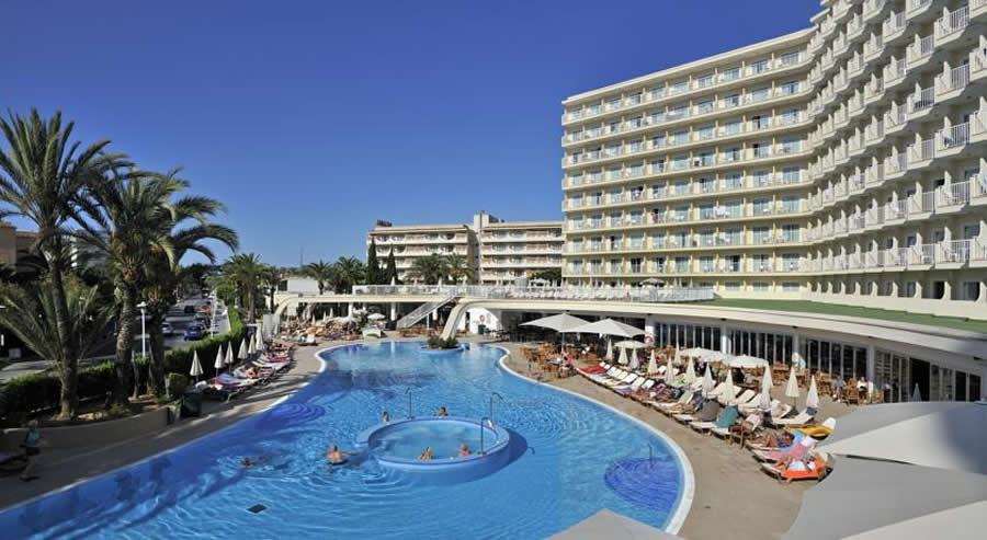 ariel view of the Sol Guadalupe Hotel, Magaluf