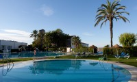 sunbeds round the pool at atalaya park hotel