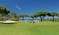 golfers on the 6th green at san lorenzo