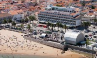 ariel view of hotel baia and the beach