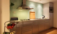 a kitchen at the Marina Club Resort