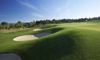 bunker on the first fairway at oceanico victoria golf course vilamoura
