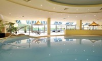 the indoor pool in the hotel spa area
