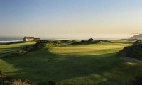 the 7th green at prai d'el rey with the atlantic ocean in the background