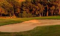 a bunker on the 14th green of Golf Santa Ponsa 1