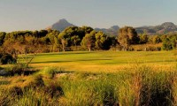 the 8th fairway of Golf Santa Ponsa 1, with the mountain in the background