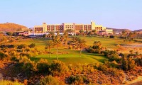 a view of the hotel from the golf course